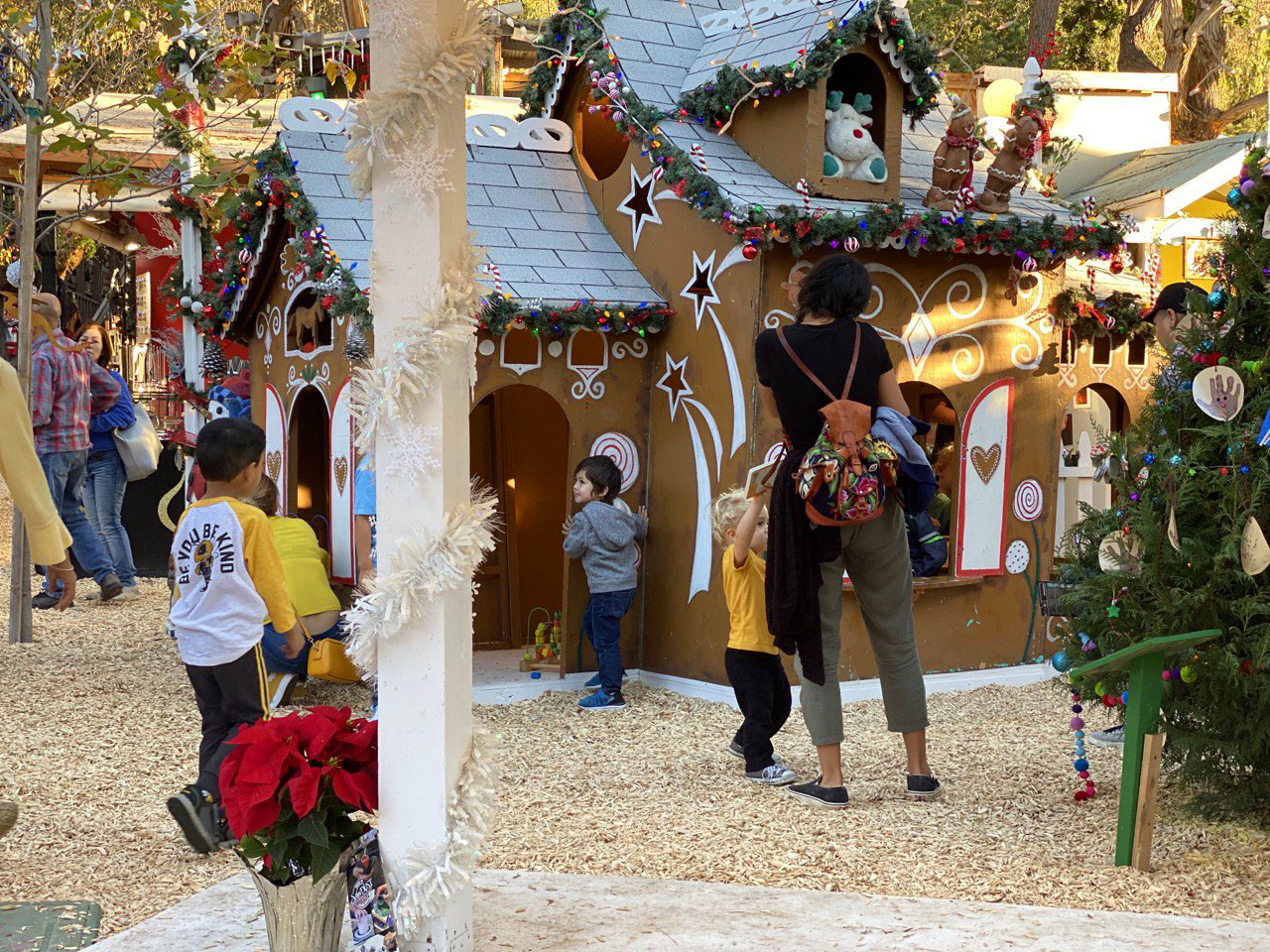 Gingerbread House in Fashion Island