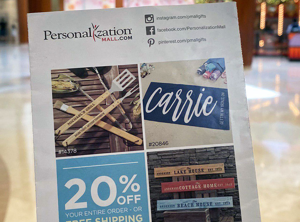 Personalization Mall 20% OFF Coupon