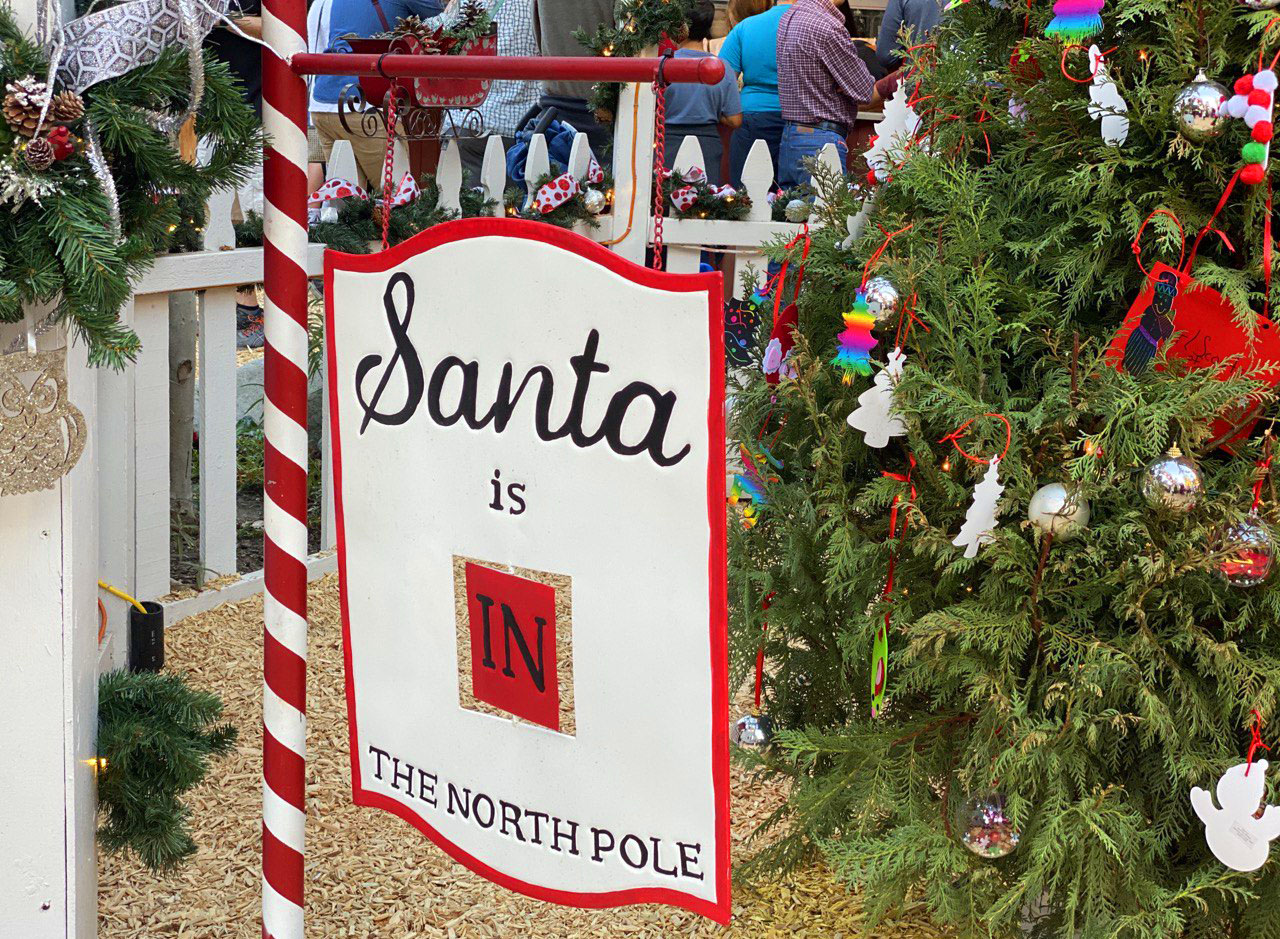 Santa is in The North Pole Sign